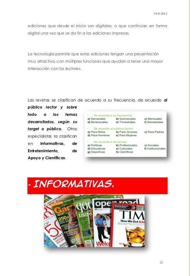 19-8-2012ediciones que desde el inicio son digitales, o que continúan en formadigital una vez que se da fin a las edicione...