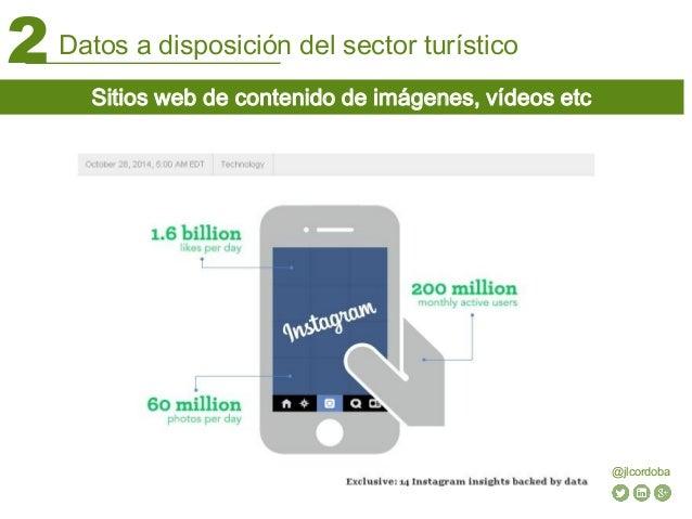 Datos a disposición del sector turístico2 @jlcordoba Sitios web de contenido de imágenes, vídeos etc