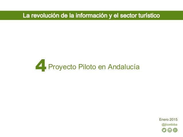 @jlcordoba Enero 2015 Proyecto Piloto en Andalucía4 La revolución de la información y el sector turístico