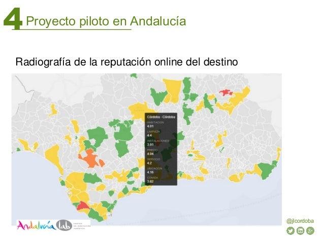 Proyecto piloto en Andalucía4 @jlcordoba Radiografía de la reputación online del destino