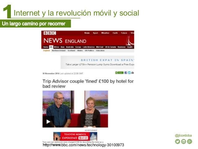 Internet y la revolución móvil y social1 @jlcordoba Un largo camino por recorrer http://www.bbc.com/news/technology-301009...