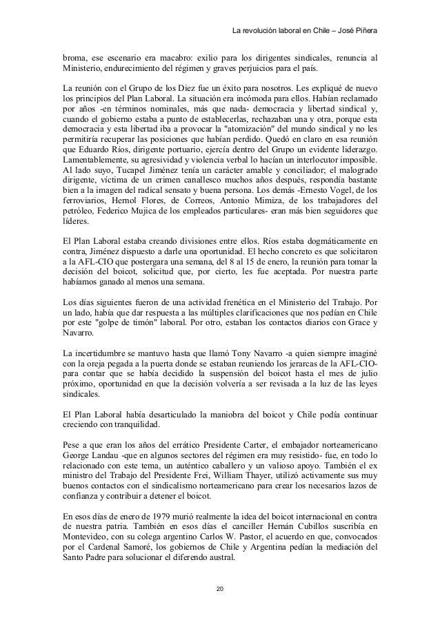 La Revolución Laboral. José Piñera 52ab9c8b79827