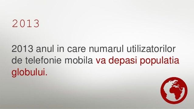 2013 2 milioane de aplicatii disponibile pentru dispozitive mobile si 1,7 miliarde smart phone in uz.