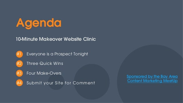 10-Minute Make Overs for B2B Websites Presented at Bay Area Content Marketing MeetUp Slide 2