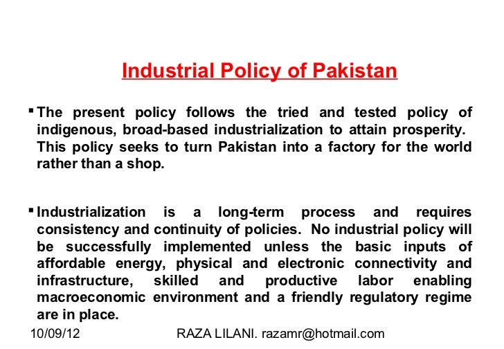 large scale manufacturing in pakistan Impact of trade liberalization and  agro-based industries contribute more than fifty percent of the total output of large scale manufacturing sector in pakistan.