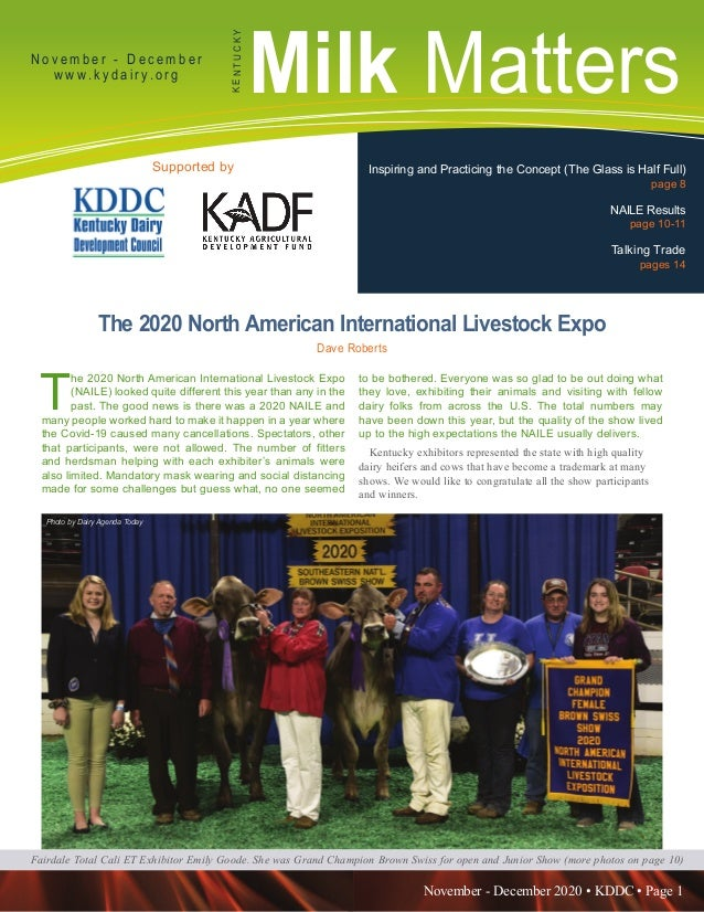 November - December 2020 • KDDC • Page 1 KDDC is supported in part by a grant from the Kentucky Agricultural Development F...