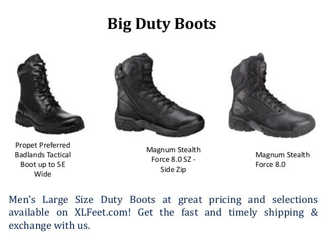 109667973ed Big Duty Boots Propet Preferred Badlands Tactical Boot up to 5E Wide Magnum  Stealth Force 8.0 SZ - Side Zip Magnum Stealth Force 8.0 Men s Large Size  ...
