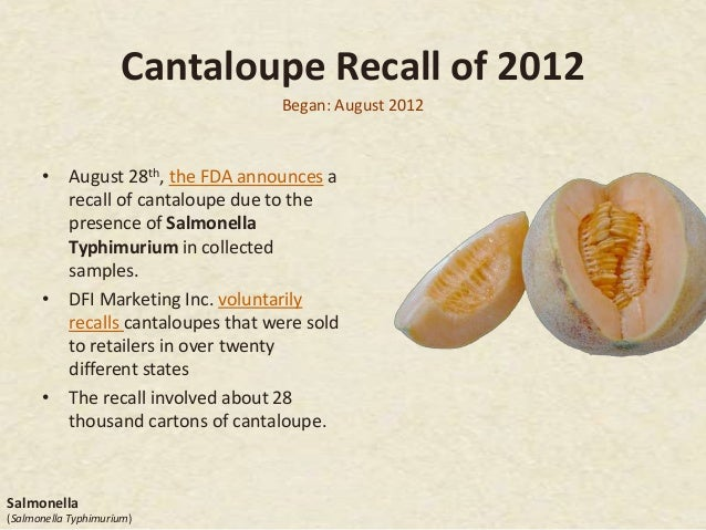 Cantaloupe Recall – Food and drug administration linked cantaloupes from chamberlain farm produce inc.
