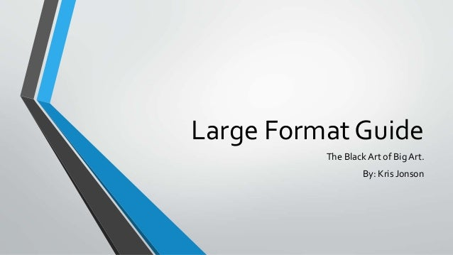 Introduction to Large Format - How to design a window graphic