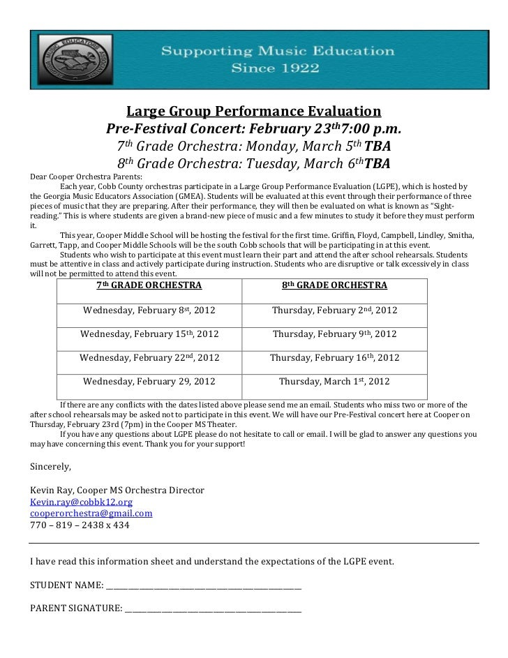 Large Group Performance Evaluation
