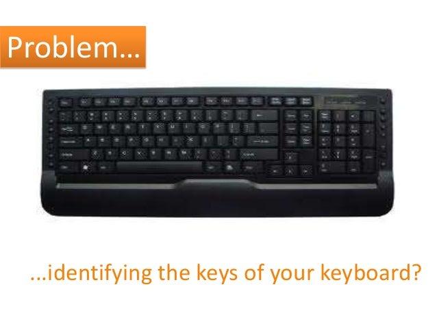 Problem…  ...identifying the keys of your keyboard?
