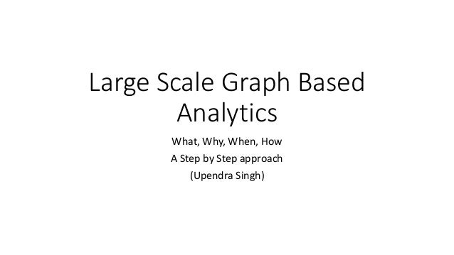 Large Scale Graph Based Analytics What, Why, When, How A Step by Step approach (Upendra Singh)