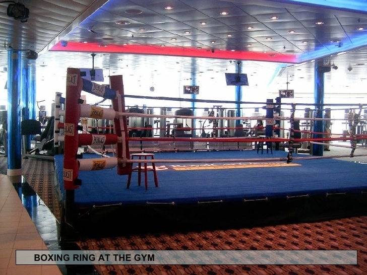 BOXING RING AT THE GYM