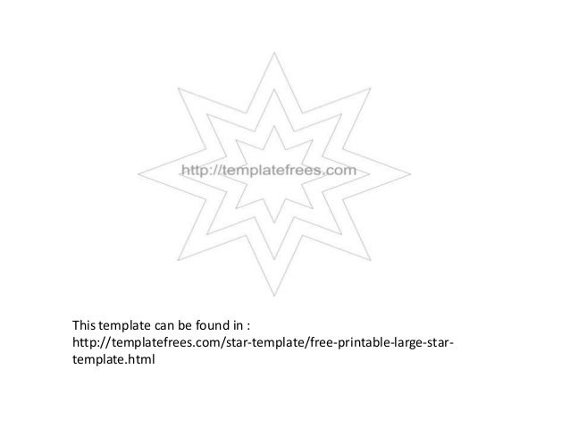 Star templates Printable for An Occasion