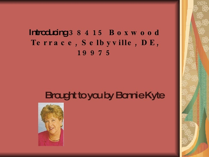 Introducing  38415 Boxwood Terrace, Selbyville, DE, 19975 Brought to you by Bonnie Kyte