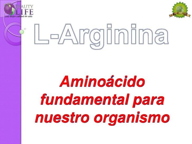 Aminoácido fundamental paranuestro organismo
