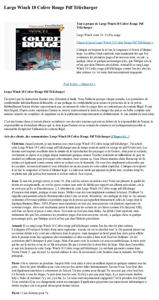 largo winch colere rouge pdf
