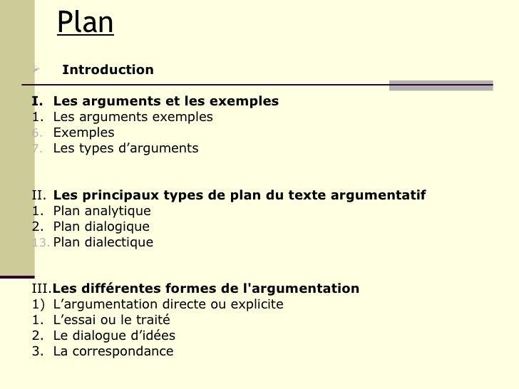Largumentation Plan ...