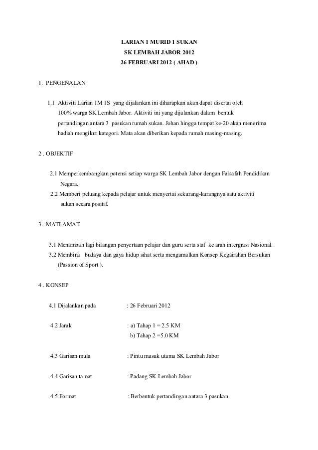 LARIAN 1 MURID 1 SUKAN                                  SK LEMBAH JABOR 2012                                 26 FEBRUARI 2...