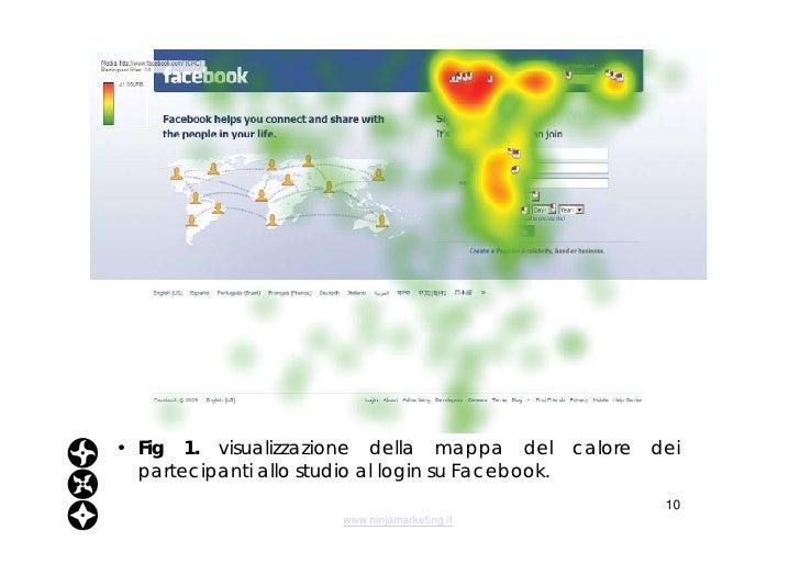 <ul><li>Fig 1.  visualizzazione della mappa del calore dei partecipanti allo studio al login su Facebook. </li></ul>www.ni...