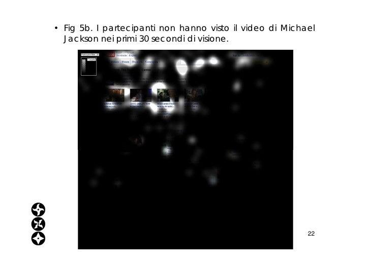 <ul><li>Fig 5b. I partecipanti non hanno visto il video di Michael Jackson nei primi 30 secondi di visione. </li></ul>www....