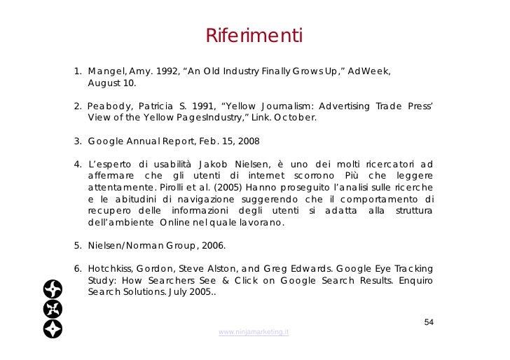 """Riferimenti <ul><li>1.  Mangel, Amy. 1992, """"An Old Industry Finally Grows Up,"""" AdWeek,  </li></ul><ul><li>August 10. </li>..."""