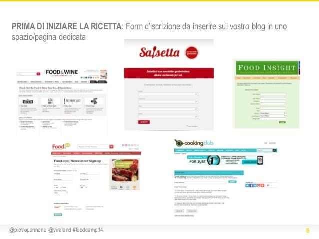 PRIMA DI INIZIARE LA RICETTA: Form d'iscrizione da inserire sul vostro blog in uno spazio/pagina dedicata  @pietropannone ...