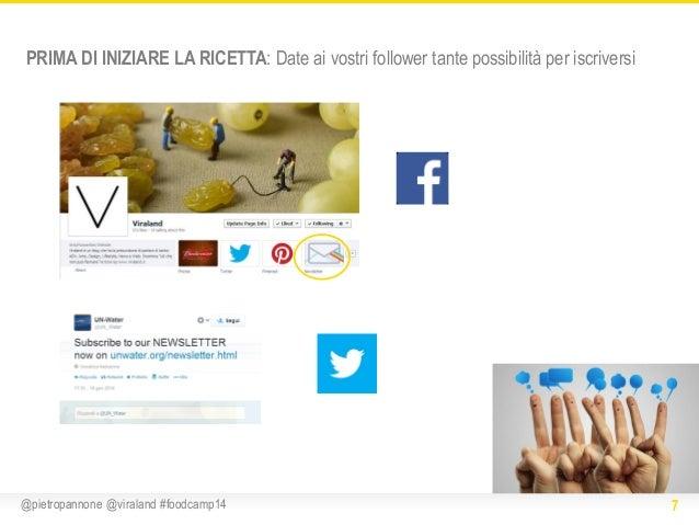 PRIMA DI INIZIARE LA RICETTA: Date ai vostri follower tante possibilità per iscriversi  @pietropannone @viraland #foodcamp...