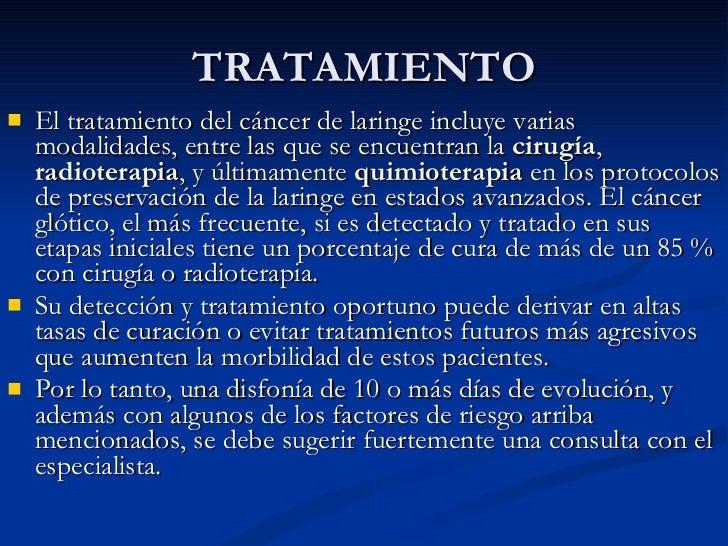 Laringe generalidades y tumores 2011 - Tratamiento para carcoma ...
