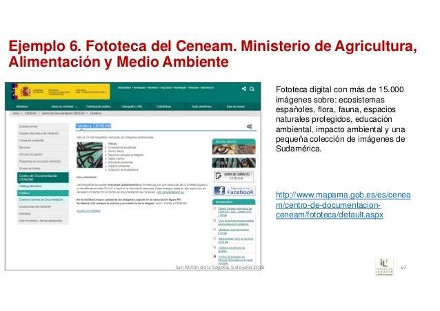 Ejemplo 6. Fototeca del Ceneam. Ministerio de Agricultura, Alimentación y Medio Ambiente Fototeca digital con más de 15.00...