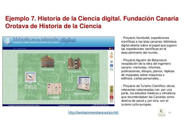 Ejemplo 7. Historia de la Ciencia digital. Fundación Canaria Orotava de Historia de la Ciencia - Proyecto Humboldt, expedi...
