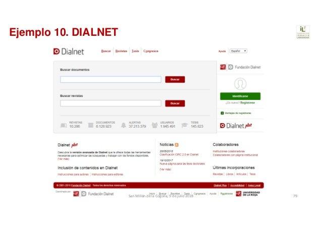 Ejemplo 10. DIALNET SanMillándelaCogolla,5dejulio2018 79