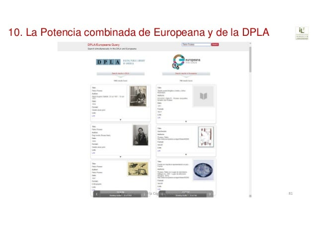 10. La Potencia combinada de Europeana y de la DPLA SanMillándelaCogolla,5dejulio2018 81