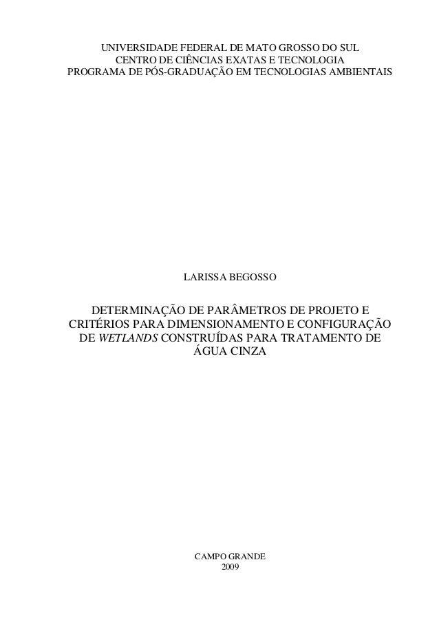 UNIVERSIDADE FEDERAL DE MATO GROSSO DO SUL CENTRO DE CIÊNCIAS EXATAS E TECNOLOGIA PROGRAMA DE PÓS-GRADUAÇÃO EM TECNOLOGIAS...