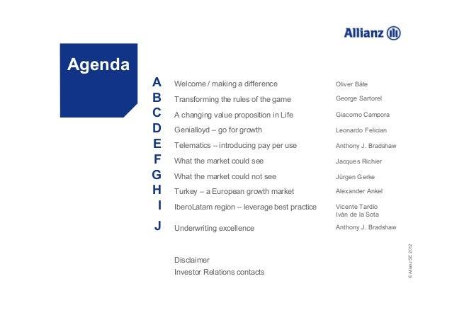 La rivoluzione di Allianz sul mercato assicurativo italiano nell'ulti…