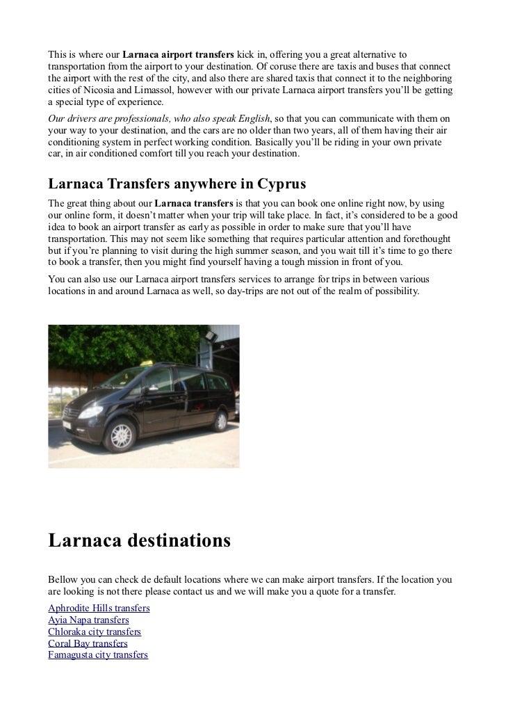 Larnaca airport transfers Slide 2