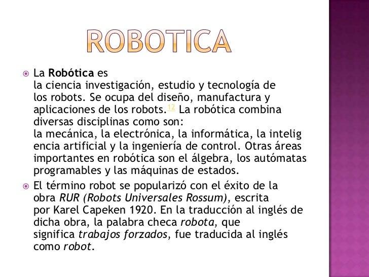 La   robotica Slide 2