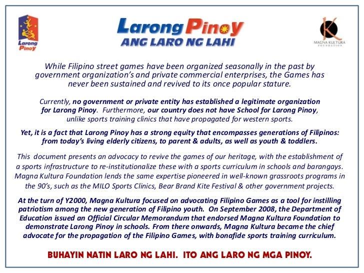 Larong Pinoy at Laro ng Lahi Para sa mga Bata
