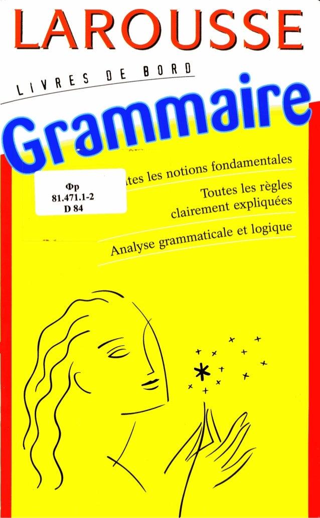 Larousse  -grammaire