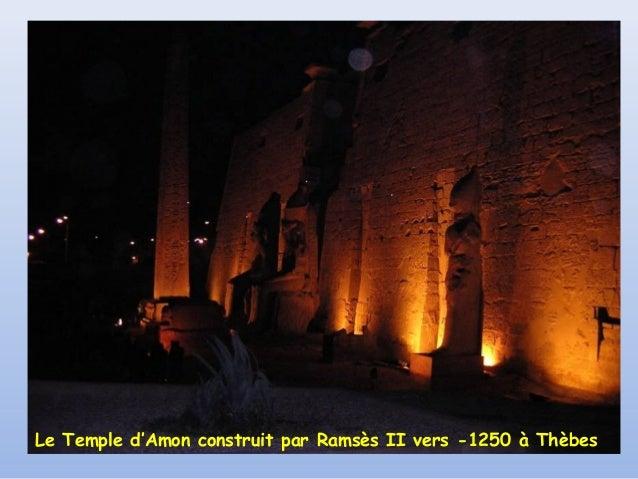Le Temple d'Amon construit par Ramsès II vers -1250 à Thèbes