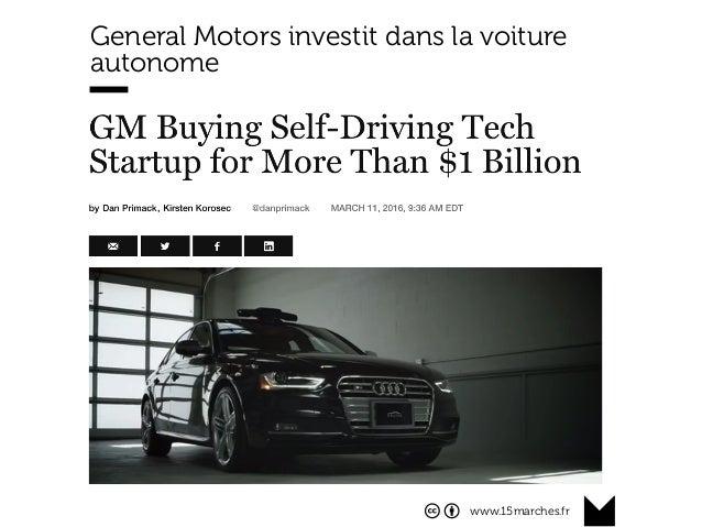 www.15marches.fr General Motors investit dans la voiture autonome