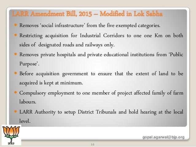 land acquisition rehabilitation and resettlement bill