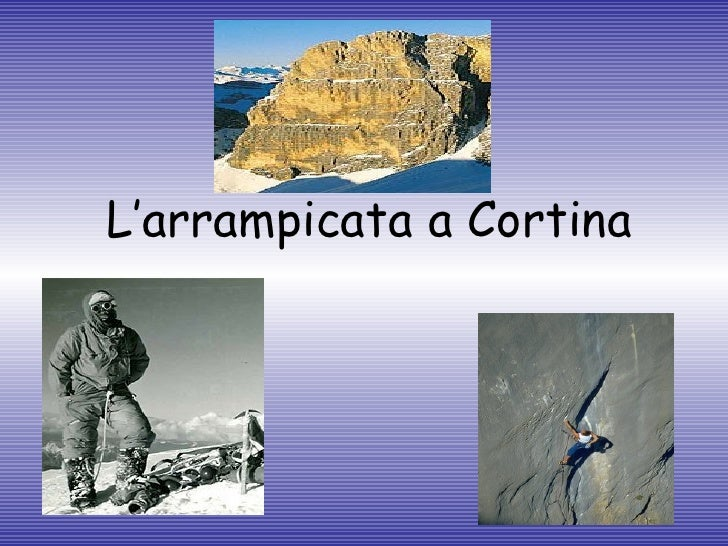 L'arrampicata a Cortina