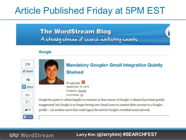 Promote to My List of Influencers Larry Kim (@larrykim) #SEARCHFEST