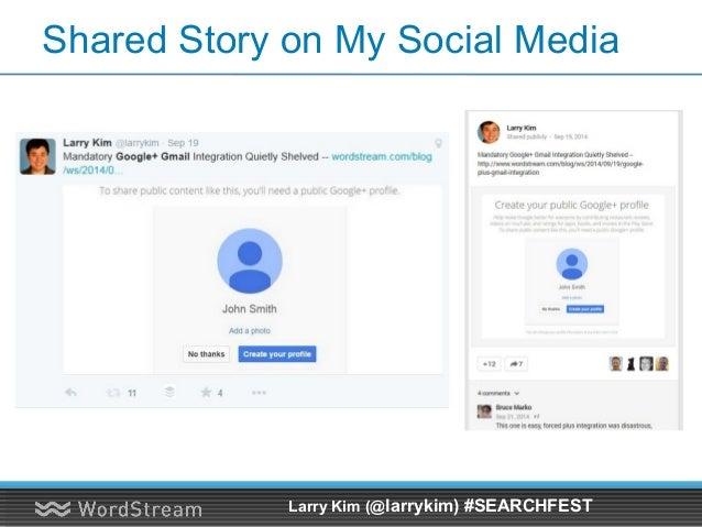 Story Appeared in Marketing Land 2 Hours Later Larry Kim (@larrykim) #SEARCHFEST