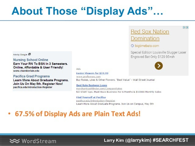 "Huge Tax on ""Text Display Ads"" vs. True Image Ads Google Display Network Ad Format CPC (USD) Text $2.31 Custom Image $0.48..."