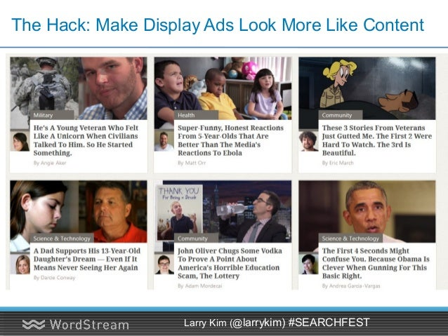 14 Display Ad Formats on GDN • Vertical rectangle: 240 x 400 • Mobile leaderboard: 320 x 50 • Banner: 468 x 60 • Leaderboa...