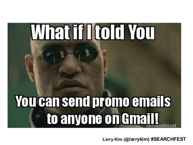 Email Ad! Larry Kim (@larrykim) #SEARCHFEST