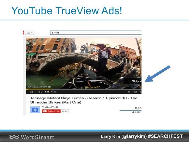 YouTube Ads Hack #2: Test Going Longform Larry Kim (@larrykim) #SEARCHFEST