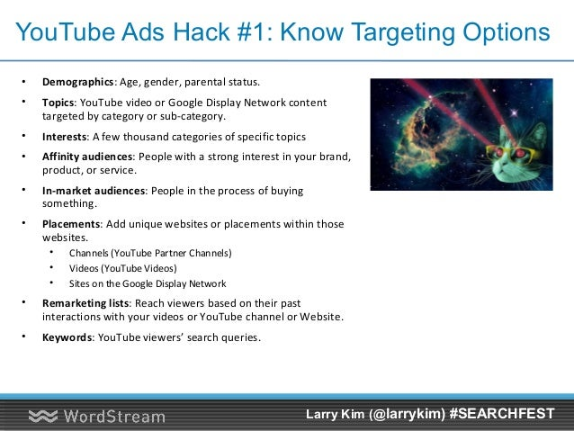 YouTube Video Promotion = More Organic Visibility! Larry Kim (@larrykim) #SEARCHFEST